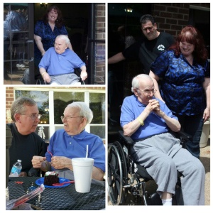 Birthday Surprise at Statesman Rehabilitation in May 2012. About 75-100 of his kids showed up to sing for him.