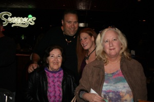 Melanie and Dean (in center) with Jeff Hauser's mother and sister.