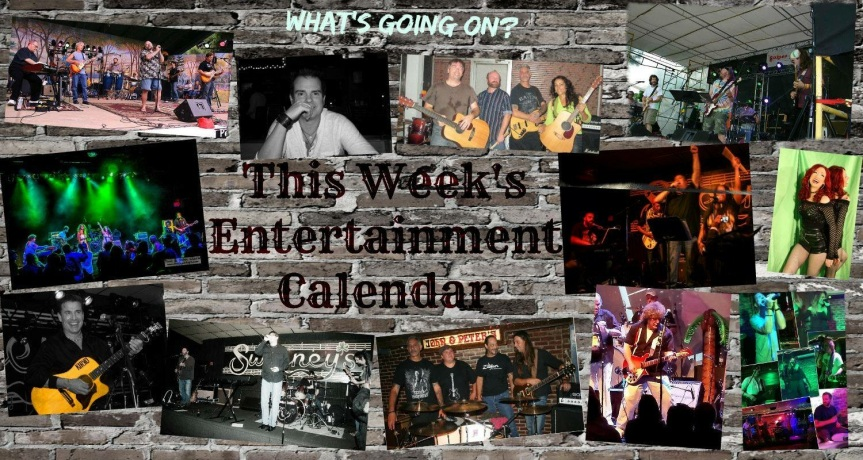 This Weeks Entertainment Calendar…